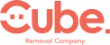 Cube removals pink logo